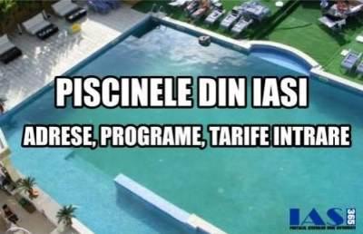 Lista completa a piscinelor din Iasi - preturi, program