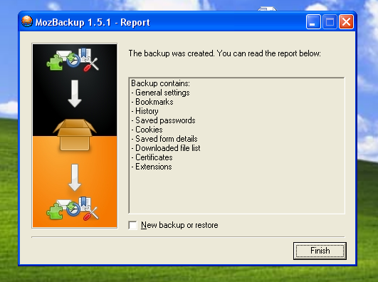 Program pentru facut backup la informatiile din Mozilla Firefox