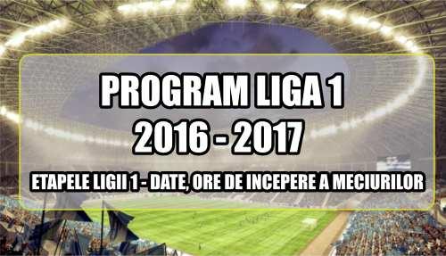 program liga 1 romania