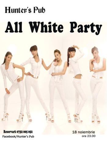 All White Party Hunters Pub Iasi