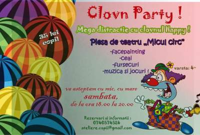 clovn party in Iulius Mall spatiul Flori de portocal