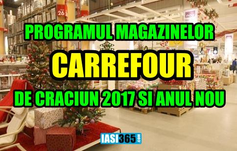 program cARREFOUR Craciun 2017 anul nou