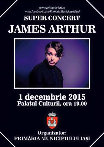 super concert james arthur la iasi