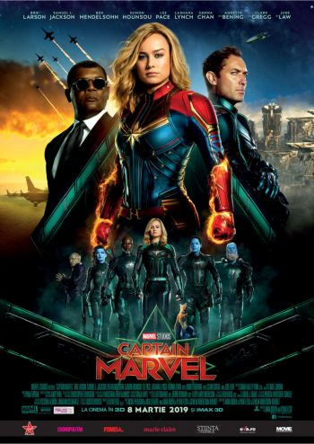 Filmul Captain Marvel la Cinema City Iasi