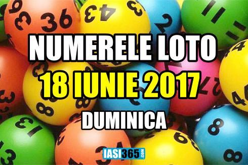 numerele extrase la tragerile loto din 18 iunie 2017