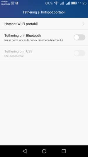 setare android tethering 3