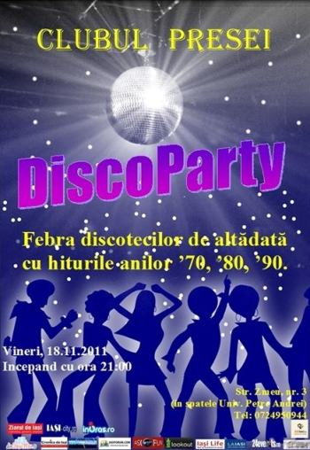 Disco Party Clubul Presei Iasi